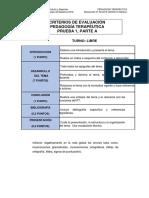 Pedagogía Terapeútica. Criterios de Evaluación. Turno Libre (1)