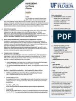 univ of florida immunisation doc