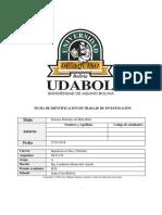 Ficha de Identificación de Trabajo de Investigación