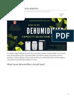 Dehumidifier capacity selection    #homedehumidifier #dehumidifiercapacity