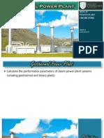 Wk 4 - Geothermal Power Plant