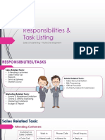 Task Listing Sales and Marketing