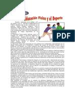 8 de OCTUBRE - Día de La Educación Física y El Deporte.