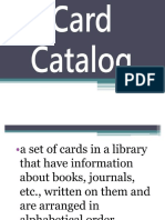 Card Catalog With Opac