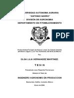 Productividad Forrajera de Nuevas Lineas de Cebada Imberbe (Hordeum Vulgare l.) en Tres Abmientes Del Norte de Mexico