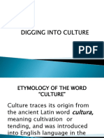 Digging Into Culture
