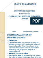 Customs Valuation Principles