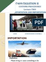 Exportation and Importation