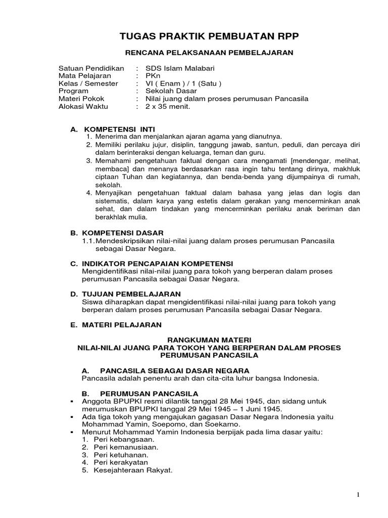 Tugas Rpp Daring 3 Rpp Oleh Lalu Akhmad Jayadi Acc