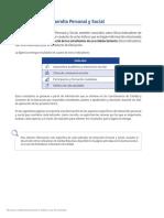 Descripción de Indicadores de Desarrollo Personal y Social