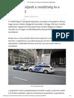 Erőn Felül Teljesít a Rendőrség És a Polgárőrség _ Világgazdaság