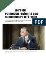 La mémoire de Pompidou revient à ses successeurs à l'Elysée - Libération