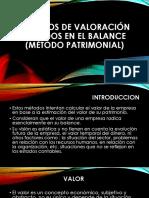 Métodos de Valoración Basados en El Balance (
