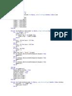 Kodingan Visual Basic