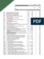 Presupuesto multifamiliar estructuras