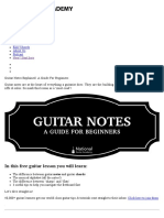 Beginner's Guide to Guitar Notes - National Guitar Academy