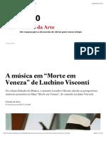"""A música em """"Morte em Veneza"""" de Luchino Visconti"""