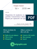 Diagnóstico de neoplasias en glándula parótida