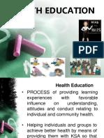 Health Education slides