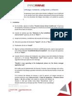 Promine License Manager Instalación y Configuración