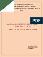 Manual de Mantenimiento de Obras Realizada (Sala de Auditorios -Unefa) (2)