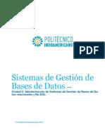 Administración de Sistemas de Gestión de Bases de Da-Tos Relacionales y No-SQL.