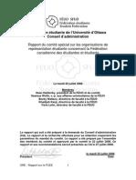ORE - Rapport sur la FCEE