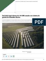Enel Italia Logró Ahorros de 144 GWh Anuales Con Sistema de Gestión de Schneider Electric