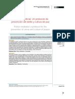 Mediación policial. Un protocolo de prevención del delito y cultura de paz