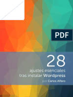 28 Ajustes Esenciales Tras Instalar Wordpress - eBook
