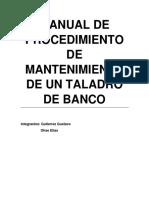 Manual de Procedimiento de Mantenimiento de Un Taladro de Banco