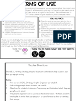 Meal Plan Paragraph Writing Strategy Graphic Organizer