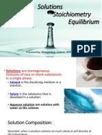 12. Solutions Stoichiometry Equilibrium