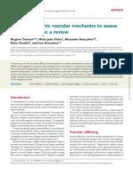 Ultrasonographic Vascular Mechanics to Assess Arterial Stiffness_ a Review