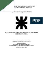 Documento Nro 2 Ejercicios Resueltos Sobre Electrostatica