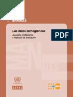 Cepal - Los Datos Demográficos. Alcances, Limitaciones y Métodos de Evaluación