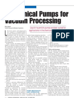 Mechanical Pumps for Vacuum Processing