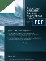 Fracciones Parciales Cuadraticos Diferentes