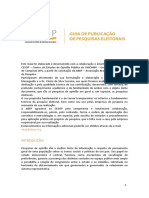 Guia Para Publicacoes de Pesquisas Eleitorais