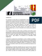 Comunicado de Madrileñ@s por el Derecho a Decidir