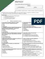 Evaluacion Ciencias Naturales 8vo