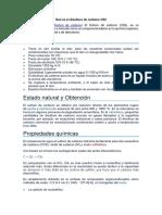 Qué es el Disulfuro de Carbono CS2