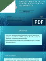 Estudio de bioequivalencia del ambroxol