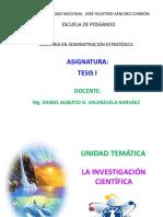 1. La Investigación Científica