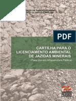 Cartilha Licenciamento Jazidas mineral