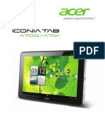 Acer Iconia User Manual 1.0
