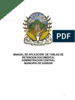 Manual de Aplicación de Tablas de Retención Documental