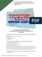 Accounting Principles & Procedures MCQs _ FPSC Senior Auditor Tests