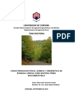 Tesis Caract. Física, Química y Energética de La Biomasa Forestal. Argentina