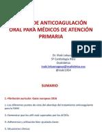 Ponencia Dr Iñaki Lekuona 84 Pag Taller de Anticoagulación Oral Para Médicos de
